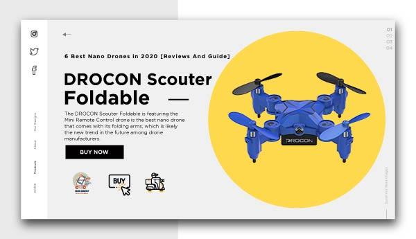 best nano drones-DROCON-Scouter-Foldable-Mini-RC-Drone