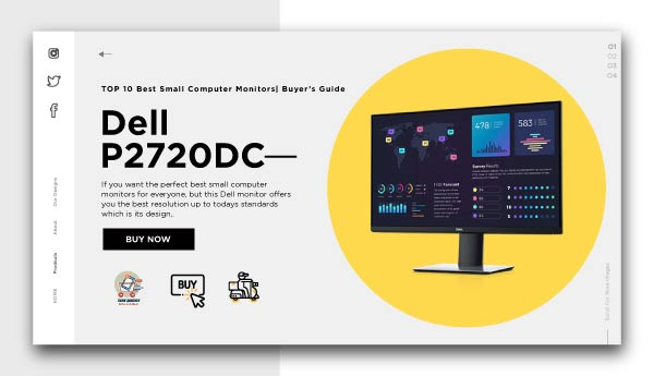 best small computer monitors-Dell-P2720DC