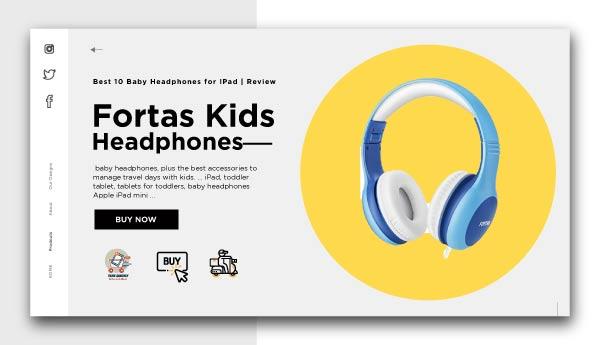 Baby Headphones for IPad-Fortas-Kids-Headphones