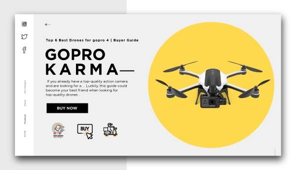 GOPRO KARMA-Best Drones for GoPro 4