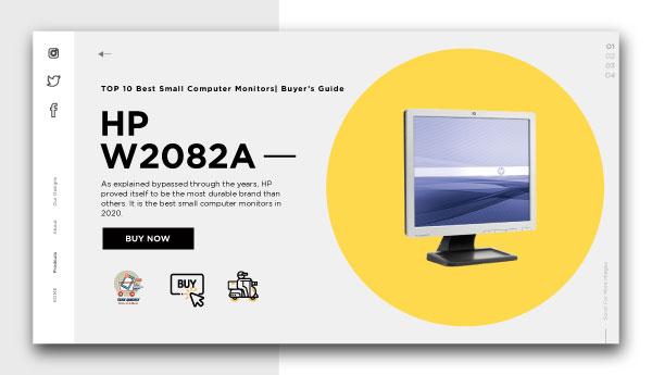 best small computer monitors-HP-W2082a