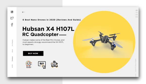 best nano drones-Hubsan X4 H107L RC Quadcopter