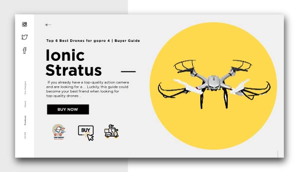 Ionic Stratus-Best Drones for GoPro 4