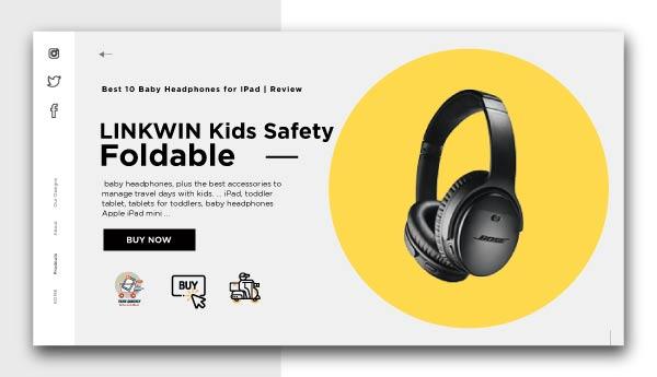 Baby Headphones for IPad-LINKWIN-Kids-Safety-Foldable-Stereo-Headphones