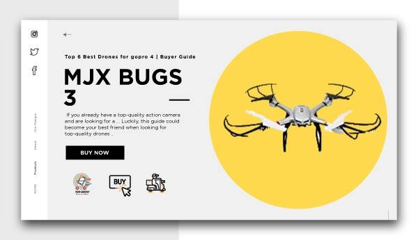 MJX BUGS 3-Best Drones for GoPro 4