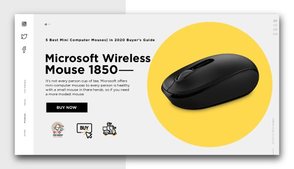best mini computer mouses-Microsoft Wireless Mobile Mouse 1850