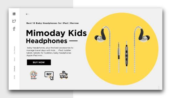 Baby Headphones for IPad-Mimoday-Kids-Headphones