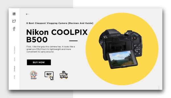 best cheapest vlogging camera-Nikon-COOLPIX-B500