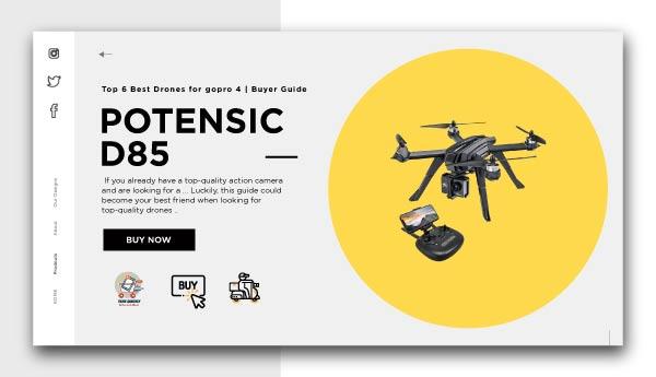 POTENSIC D85-Best Drones for GoPro 4