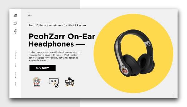 Baby Headphones for IPad-PeohZarr-On-Ear-Headphones