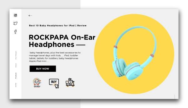 Baby Headphones for IPad-ROCKPAPA-On-Ear-Headphones