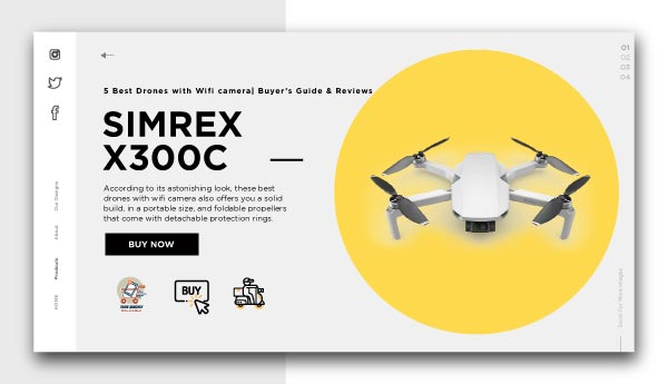 Best Drones with Wifi camera-SIMREX X300C Mini Drone RC Quadcopter