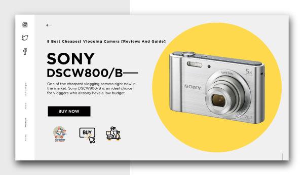 best cheapest vlogging camera-SONY DSCW800B