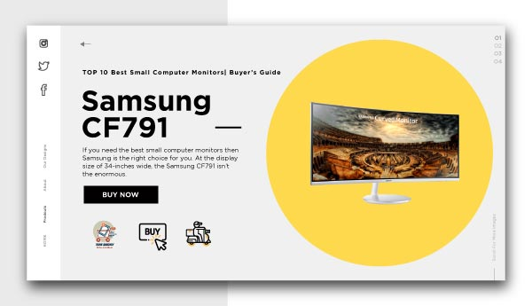 best small computer monitors-Samsung-CF791