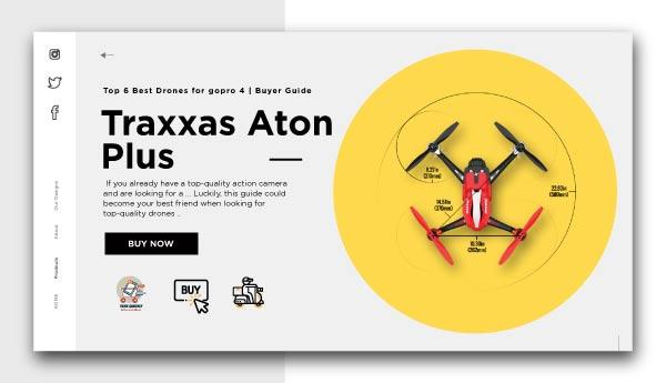 Traxxas Aton Plus-Best Drones for GoPro 4