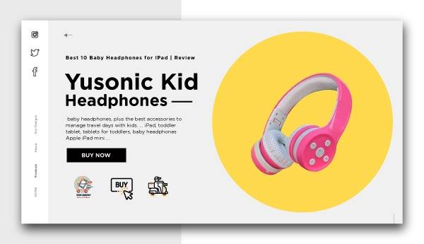 Baby Headphones for IPad-Yusonic-Kid-Headphones